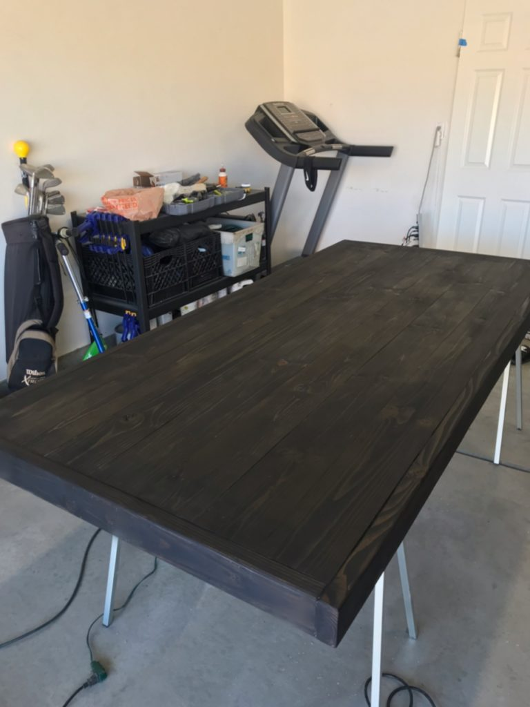 Diy Rh Inspired Dining Table Designs By Jeana - How To Stain A Table Black