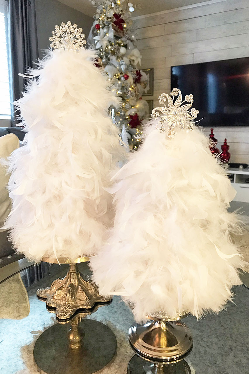 Diy Feather Christmas Trees Designs By Jeana Diy